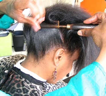 Black Hair Style: How To Sleek Wrap and Roller Wrap Your Hair